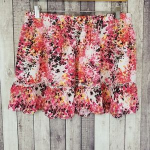 Candies floral print mini skirt
